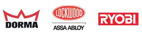 Door Repair Products Brands Dorma, Lockwood, Ryobi